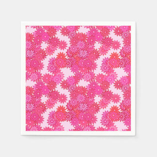 Daisies in shades of pink and fuchsia napkin