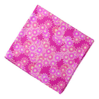 Daisies in shades of pink and orchid bandana