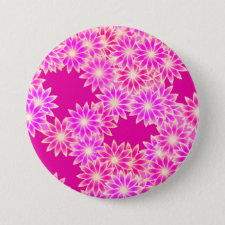 Daisies in shades of pink and orchid button