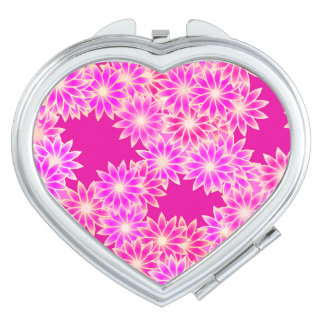 Daisies in shades of pink and orchid vanity mirror