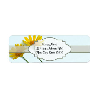Daisies in the Sky Nametag Label