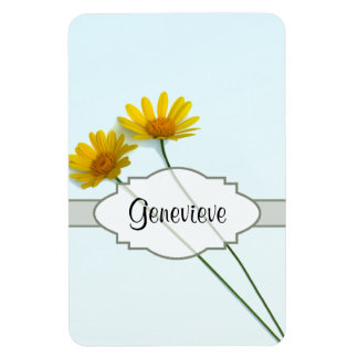 Daisies in the Sky Nametag Rectangular Photo Magnet