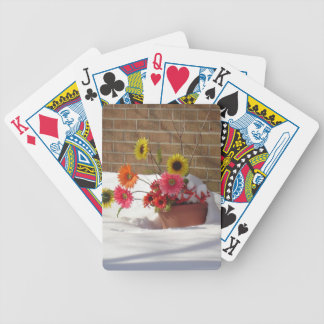 Daisies In The Snow Bicycle Playing Cards