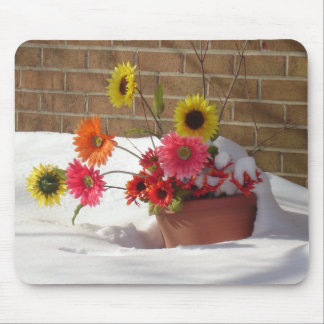 Daisies In The Snow Mousepads