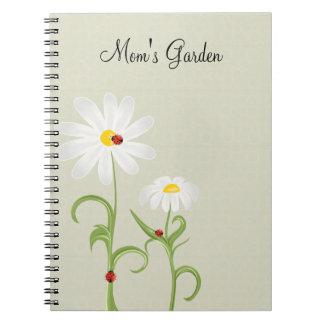 Daisies Ladybugs Personalized Journal