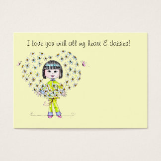 Daisies Lunch Box Love note - Business Card
