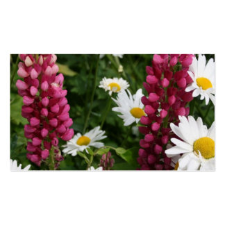 Daisies & Lupins Business Card Templates