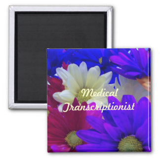 Daisies MT 2 Inch Square Magnet