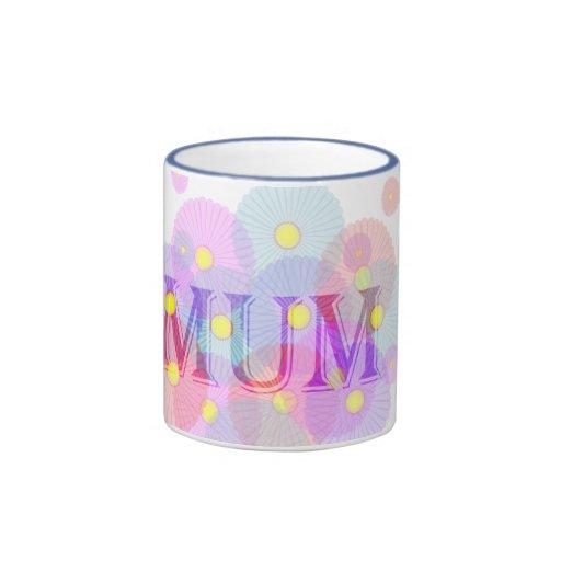 Daisies Mum Ringer Coffee Mug