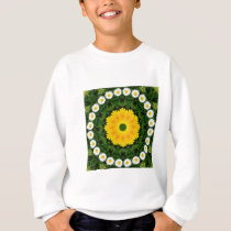 Daisies Nature, Flower-Mandala Sweatshirt