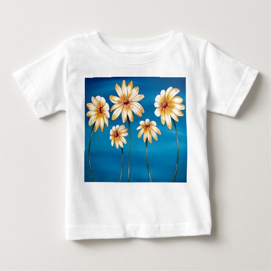 Daisies on Blue Baby T-Shirt