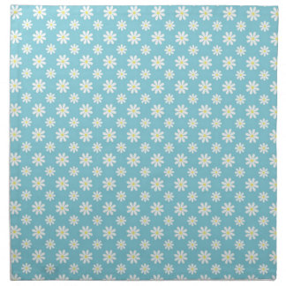 Daisies on Blue Pattern Cloth Napkin
