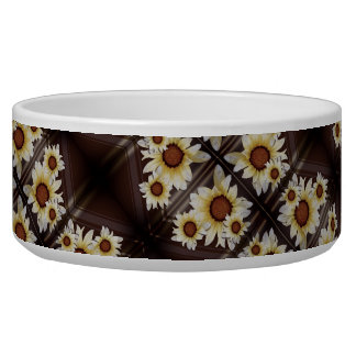 Daisies on brown bowl