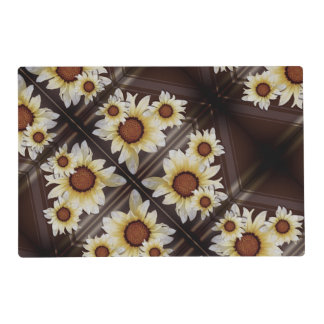 Daisies on brown placemat
