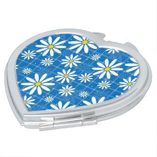 Daisies on Plaid Vanity Mirror