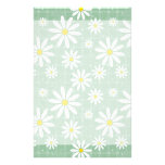 Daisies on Plaid Stationery Design