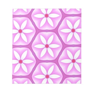 Daisies on Violet Hexagons Pattern