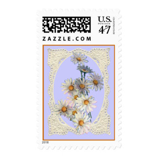 DAISIES & OVAL by SHARON SHARPE Postage