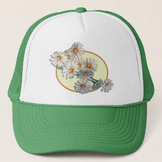 DAISIES & OVAL by SHARON SHARPE Trucker Hat
