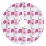 Daisies Pink Brushed Polyester Tree Skirt