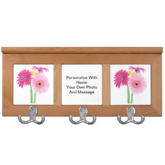 Daisies Pink Coat Rack