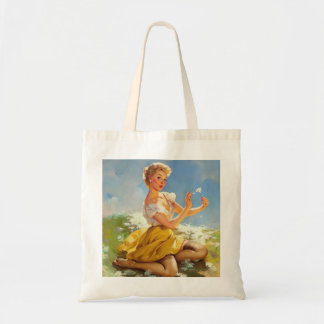 Daisies Pinup Tote Bag