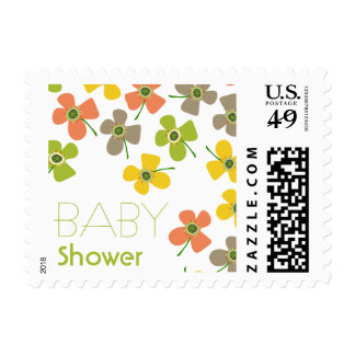 Daisies Pop Boy Girl Neutral Baby Shower Stamps