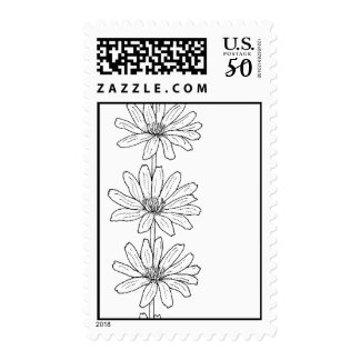 Daisies postage stamp