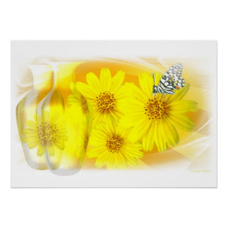 Daisies reflected - Fine Art Poster