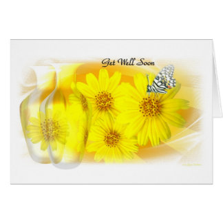 Daisies Reflected - Get Well Soon Card