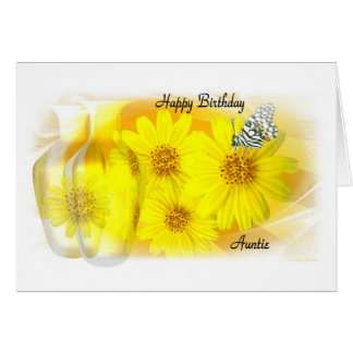 Daisies Reflected - Happy Birthday Auntie Greeting Card