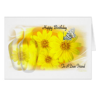 Daisies Reflected  - Happy Birthday  Dear Friend Greeting Card