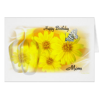 Daisies Reflected - Happy Birthday Mom Card
