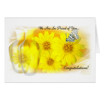 Daisies Reflected - We Are So Proud Of You Greeting Card