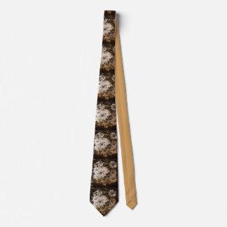 Daisies, Sepia, Grunge Neck Tie