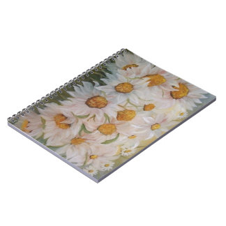 daisies spiral note book