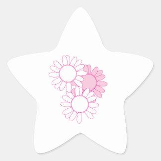 Daisies Star Sticker