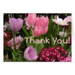 Daisies Tulips Hyacinths Card