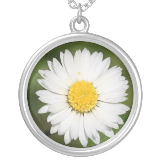Daisies Wild Silver Plated Necklace