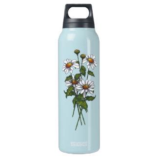 Daisies: Wildflowers: Nature Art Insulated Water Bottle