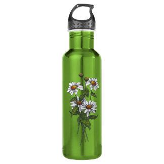 Daisies: Wildflowers: Nature Art Water Bottle