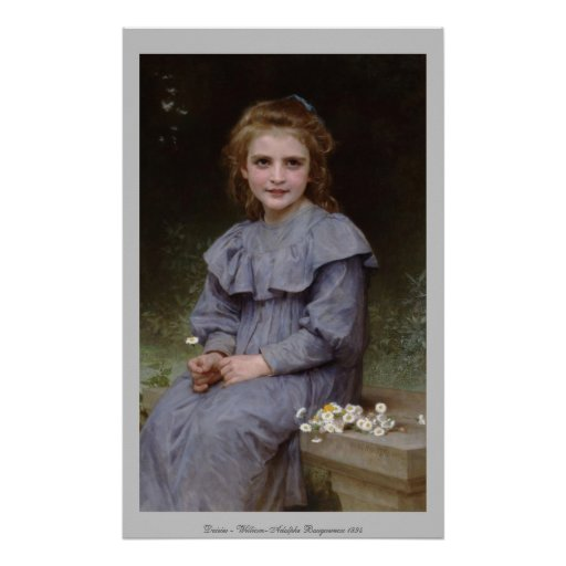 Daisies - William-Adolphe Bouguereau Poster