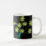 daisiesyellowblk coffee mugs