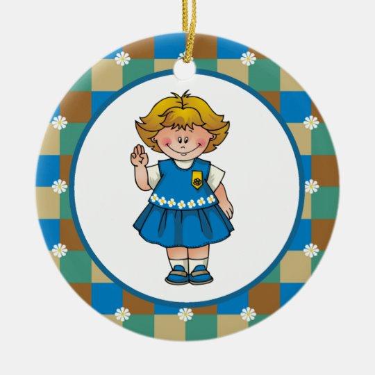Daisy4 Ceramic Ornament