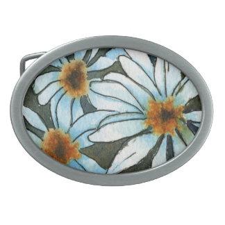 """Daisy #1"" Floral Belt Buckle"
