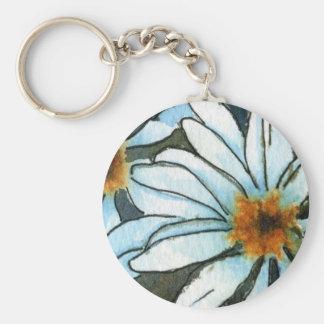 """""""Daisy 1"""" Floral Keychain"""