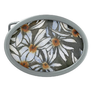 """Daisy #2"" Floral Belt Buckle"
