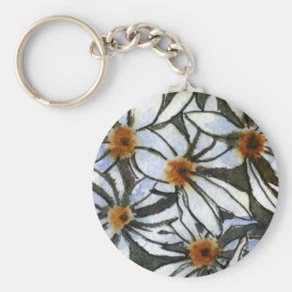 """""""Daisy 2"""" Floral Keychain"""