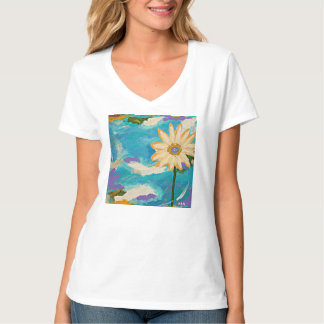 Daisy abstract art tee shirt