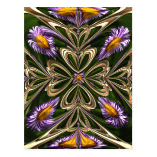 Daisy Abstract Postcard
